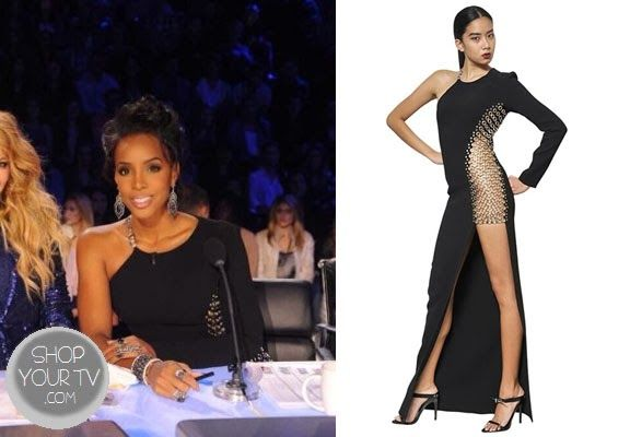 The X Factor: Season 3 Kelly Rowland's Chain Dress