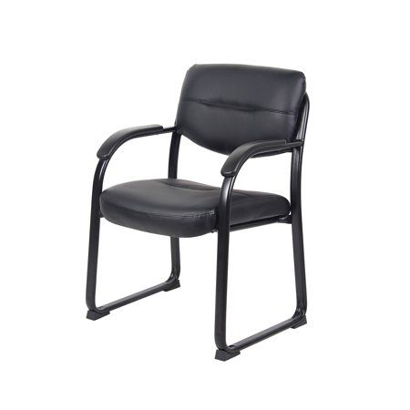 Pleasing Boss Office Products Black Guest Reception Waiting Room Machost Co Dining Chair Design Ideas Machostcouk