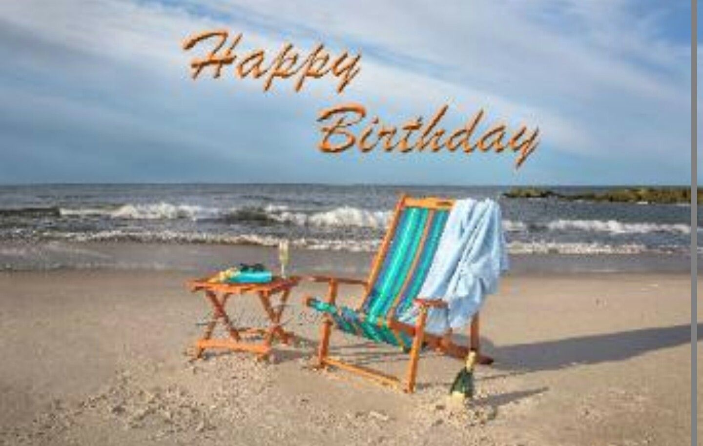 Happy Birthday Beach Chairs Ocean Front Birthday Quotes