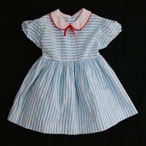 Vintage nautical summer toddler's dress, 1950's.