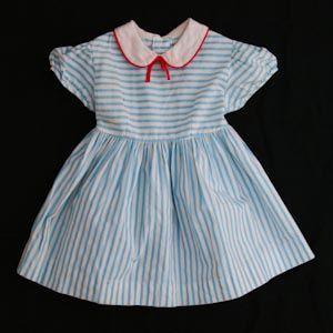 Vintage nautical summer toddler's dress, 1950's.