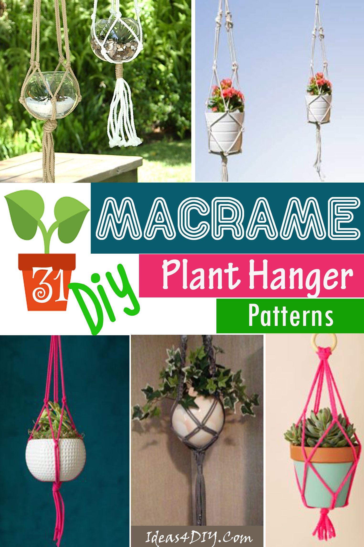 31 diy macrame plant hanger patterns macrame plant
