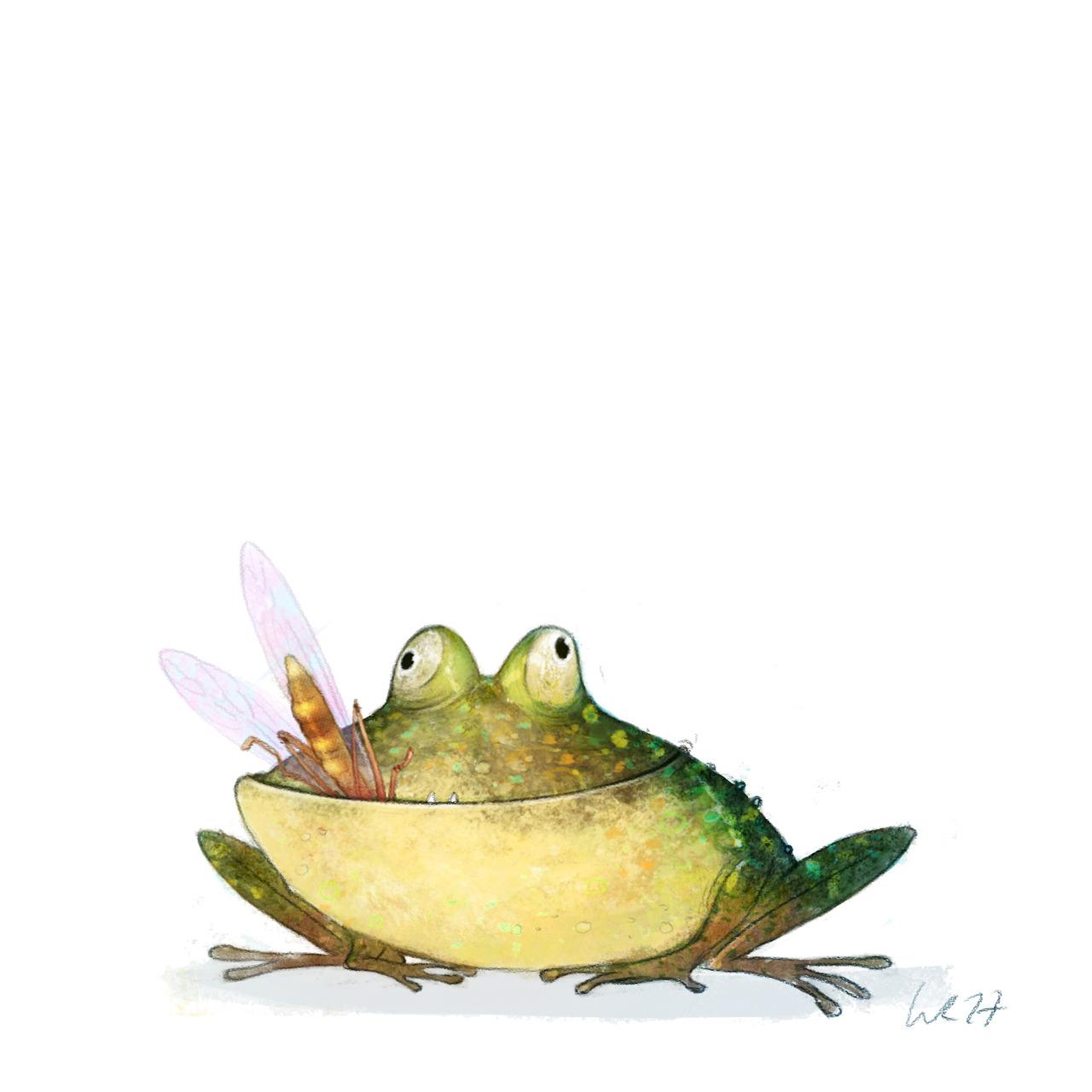 Рисунки смешной лягушки