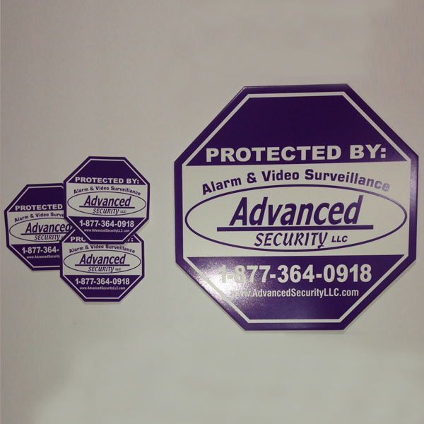 Advanced Security Sign/Sticker 3Pack Home safety