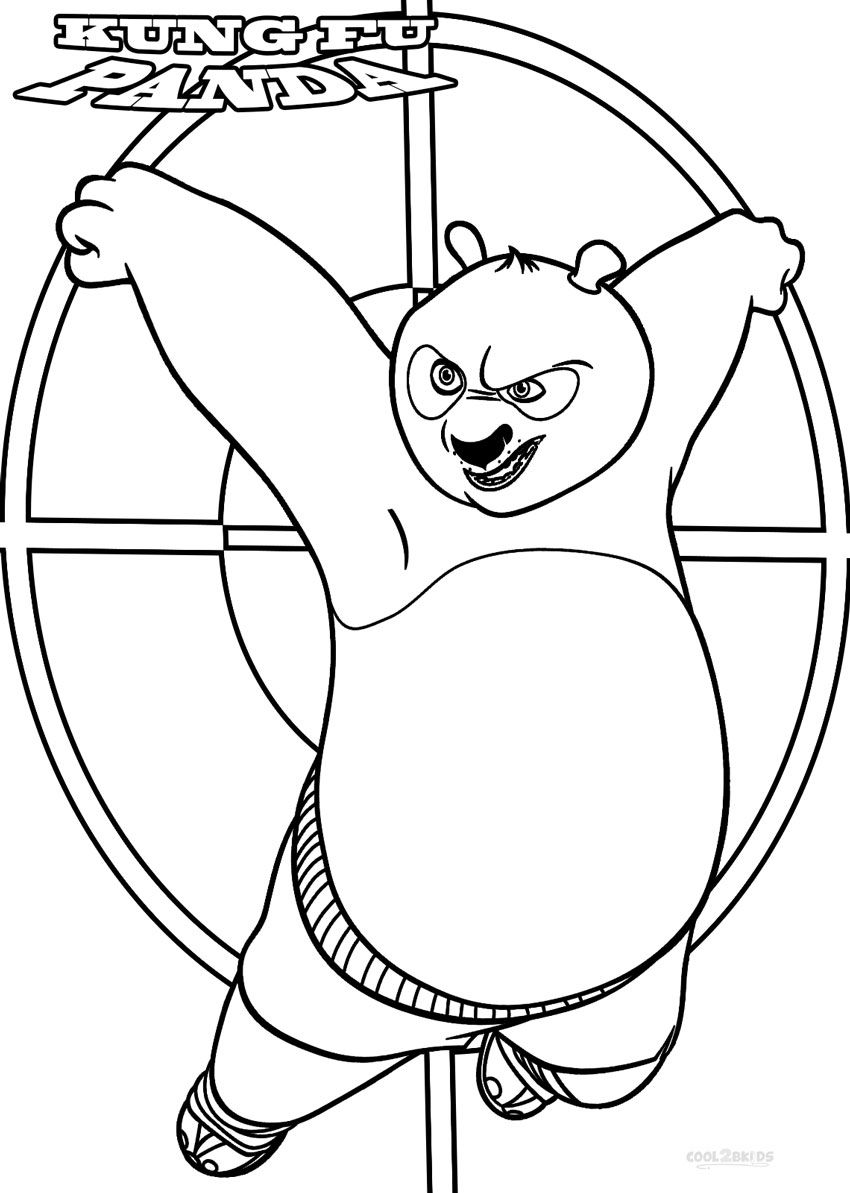Coloring pages panda for kids to print - Printable Kung Fu Panda Coloring Pages For Kids Cool2bkids