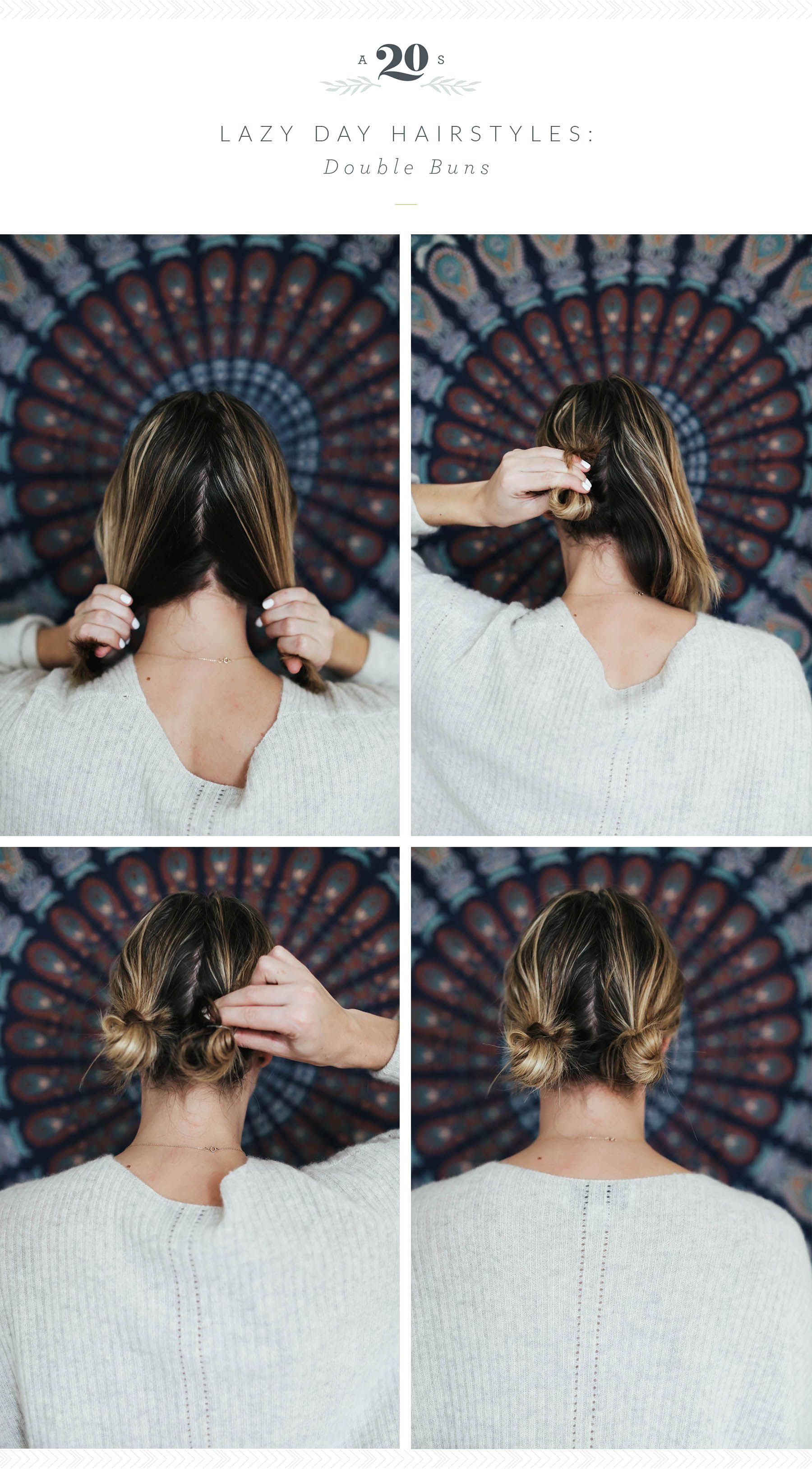 3 Easy Hairstyles For Lazy Days Lazy Girl Hairstyles Cute Lazy Hairstyles Short Hair Styles Easy