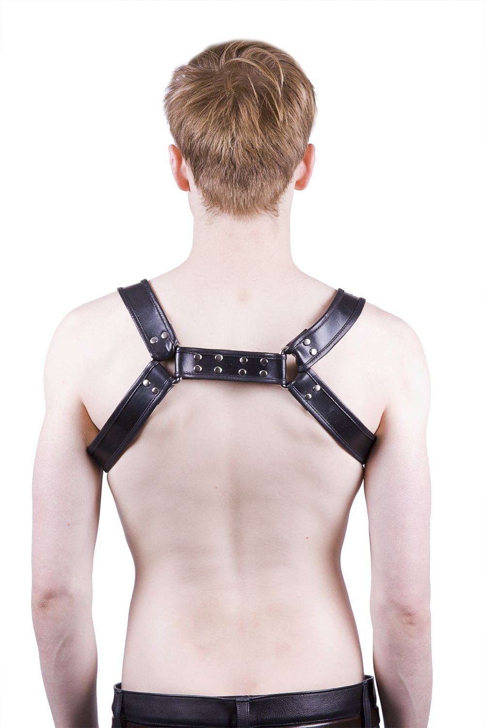 Decorative Cock Ring Mens Body Harness Chest Harness Is Full Leather And Easily