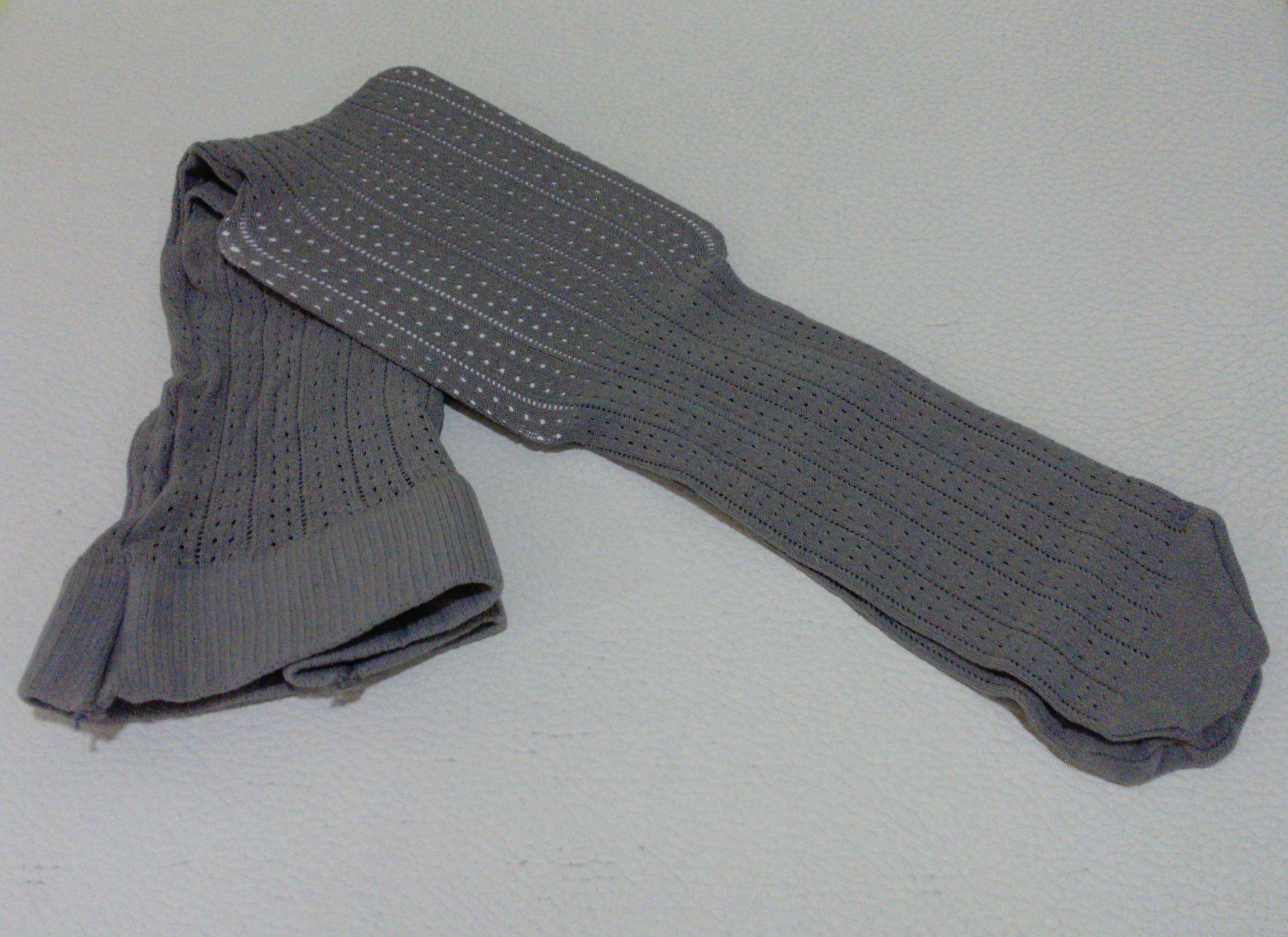 Panty calado de hilo en tono gris Tallas desde 3 meses a 8 años Marca...ADARA-APRICOT