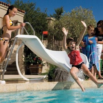InterFab XStream 2 Pool Slide, Summit Gray Pool