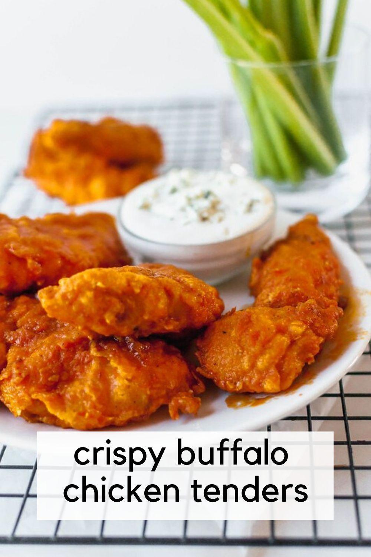 Crispy Buffalo Chicken Tenders Recipe In 2020 Buffalo Chicken Tenders Chicken Tenderloin Recipes Buffalo Chicken