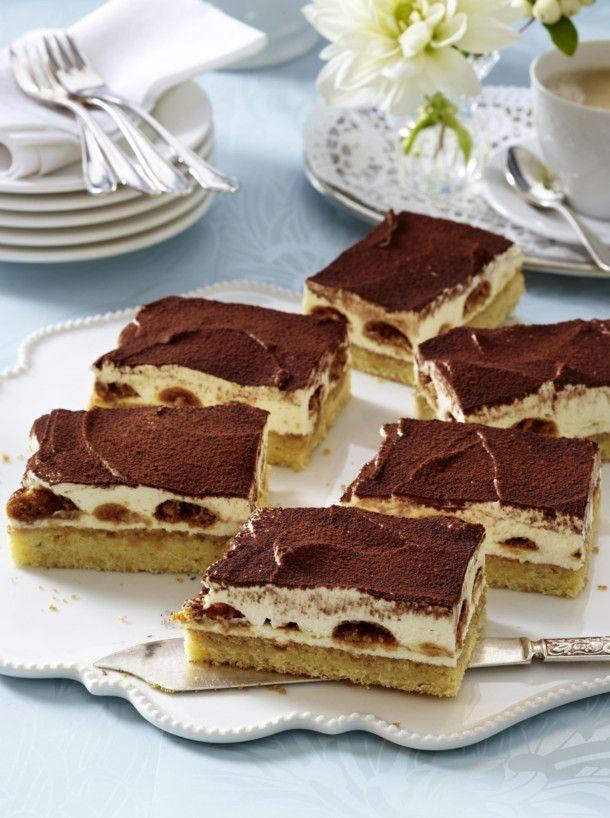Tiramisu-Kuchen vom Blech Rezept Pinterest - Bakken