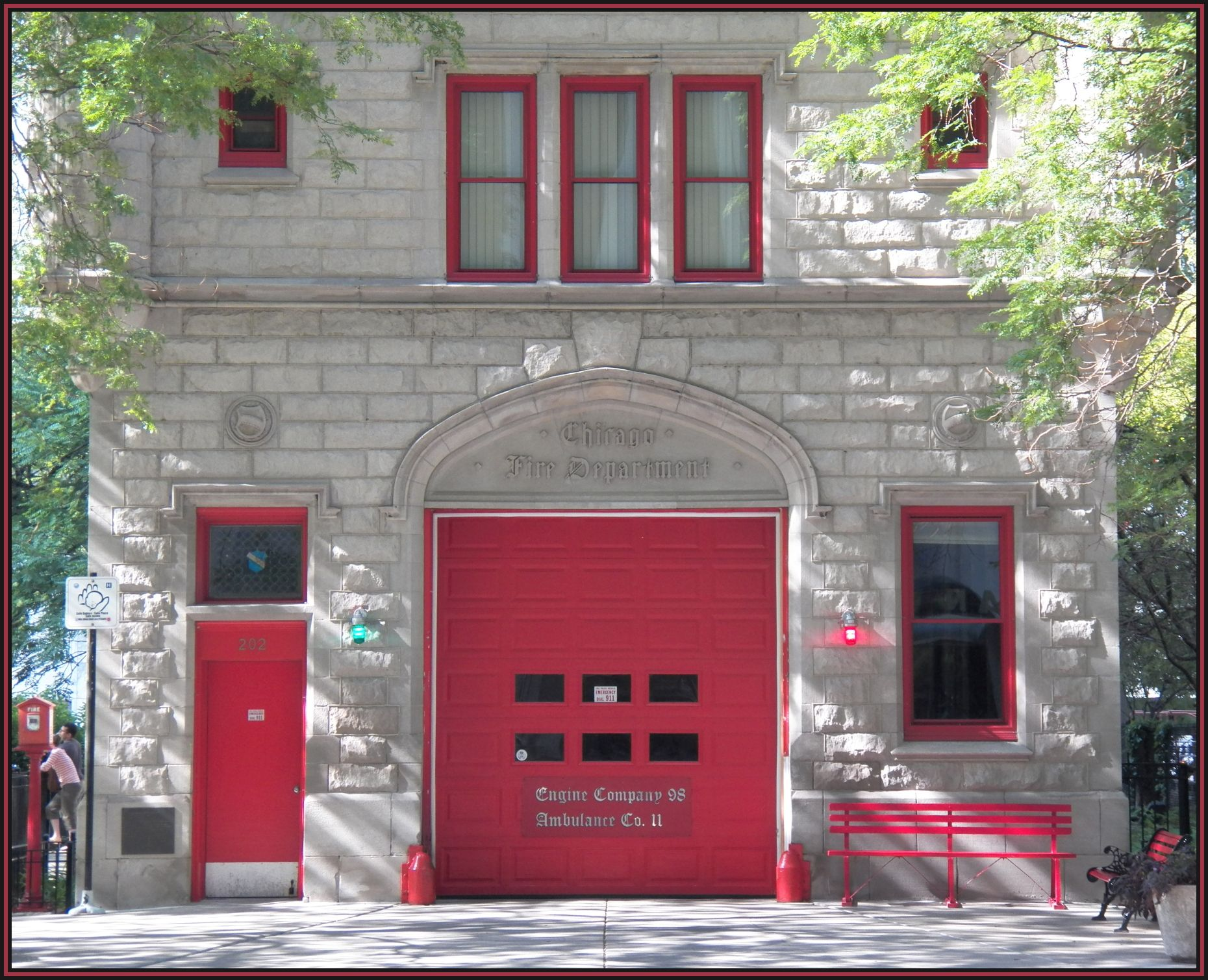 Historic Chicago Fire Dept. Downtown Chicago