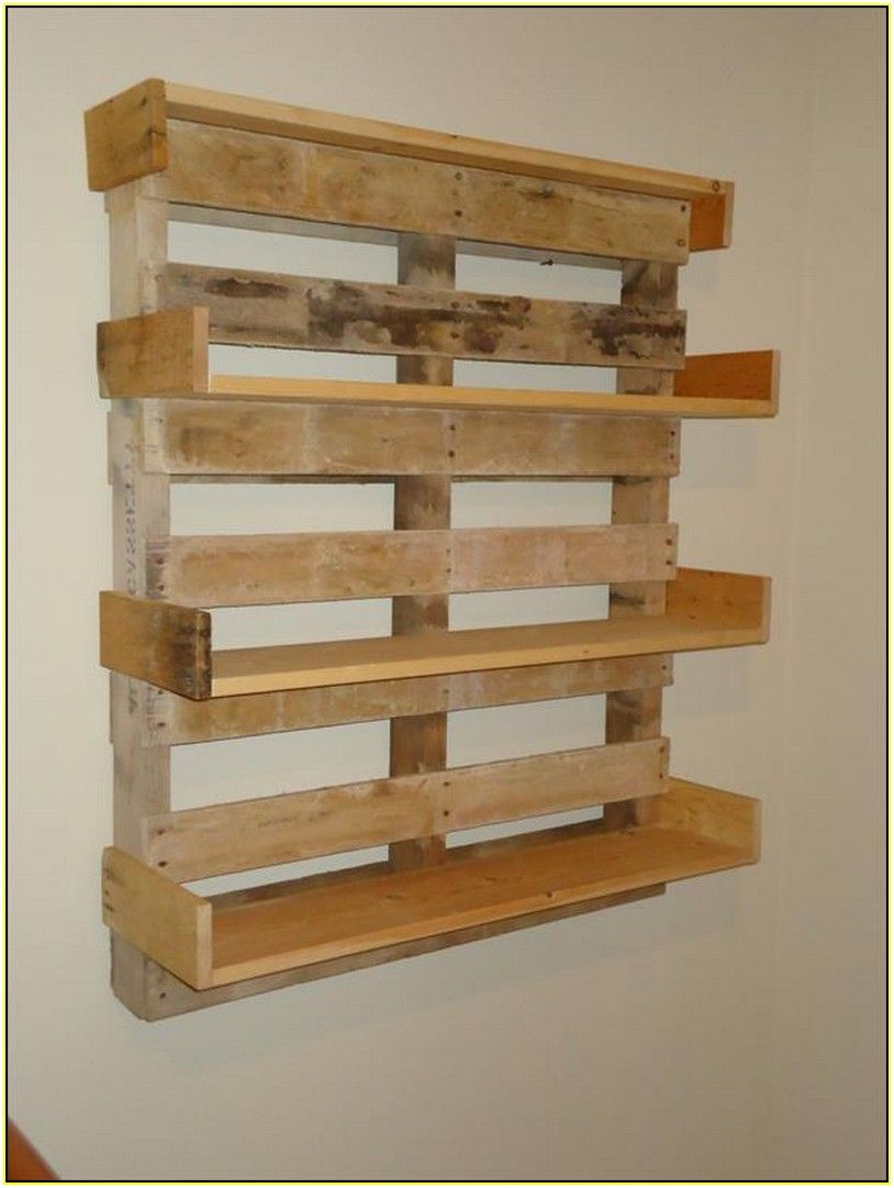 Shelves Made From Pallets Google Search Pallet Shelves Diy