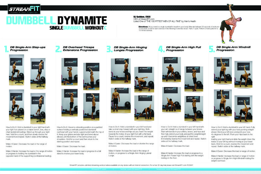 free dumbbell poster workout go to downloads section fitness