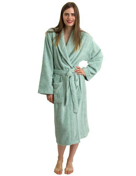 TowelSelections Egyptian Cotton Bathrobe Shawl Collar Terry Robe Made in  Turkey at Amazon Women s Clothing store  Terry Cloth Robe c05942ae5