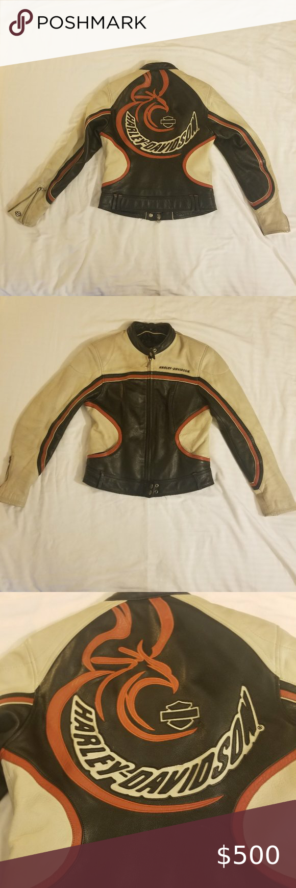 Rare Harley Davidson Phoenix Leather Jacket M In 2020 Harley Davidson Jacket Leather Jacket Jackets