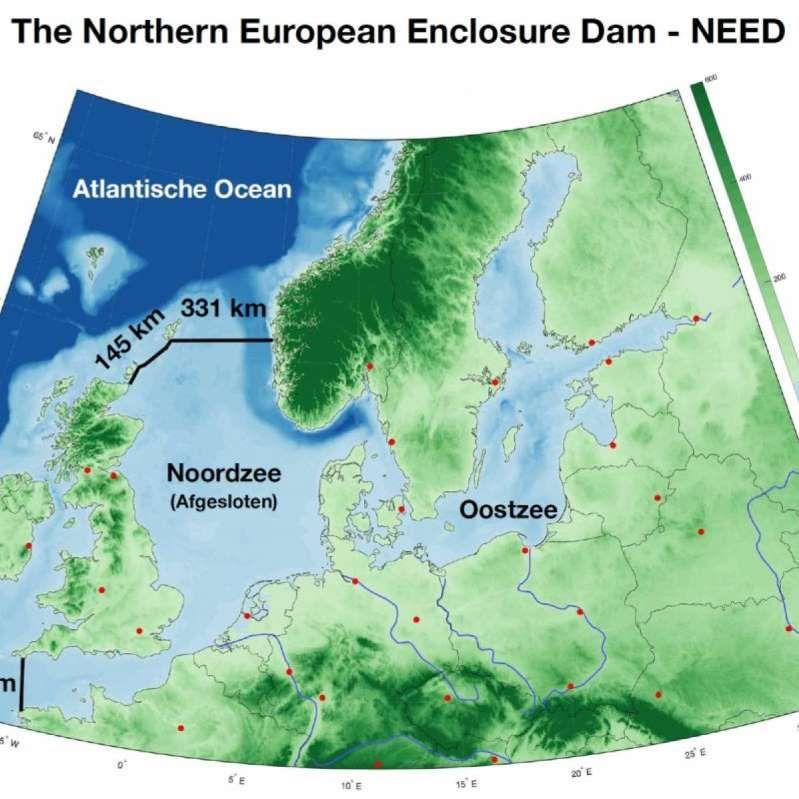 Kort Over Placering Af Nordsodaemninger Som Hollandsk Forsker Har