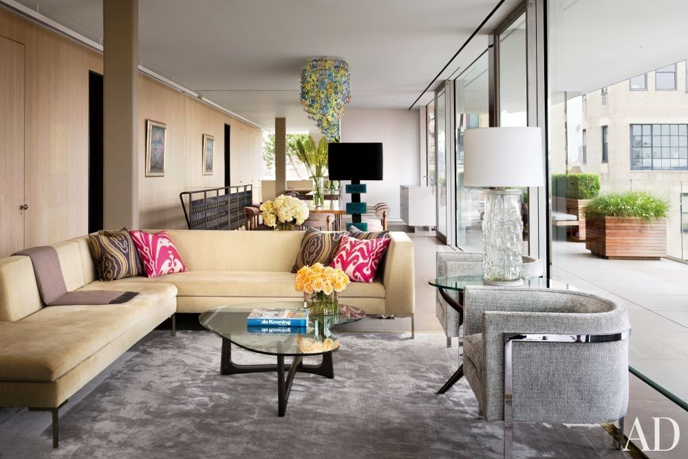 Modern Living Room By Rees Roberts Partners Via Archdigest Designfile Nyc Apartment Decorating Living Room Modern Big Living Rooms Latest style living room example