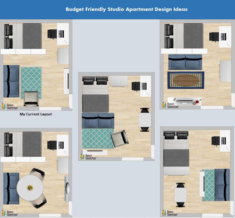 Apartment Plane Mit Zwei Schlafzimmern Auswahl Von 50 Designs Die Sie In Der Ko In 2020 Studio Apartment Layout Apartment Layout Studio Apartment Design