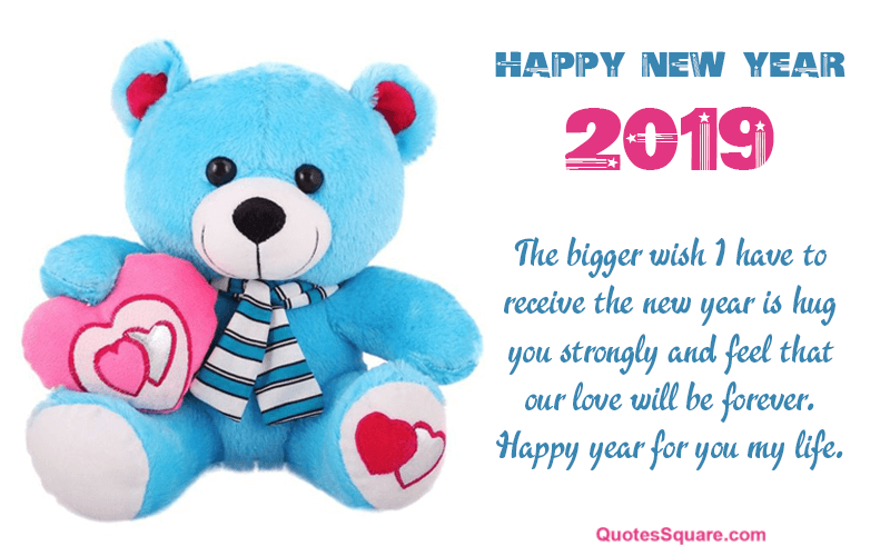 Best Teddy Bear Image To Wish New Year 2019 Love Happy New Year Pictures Happy New Year Fireworks Teddy Bear Pictures
