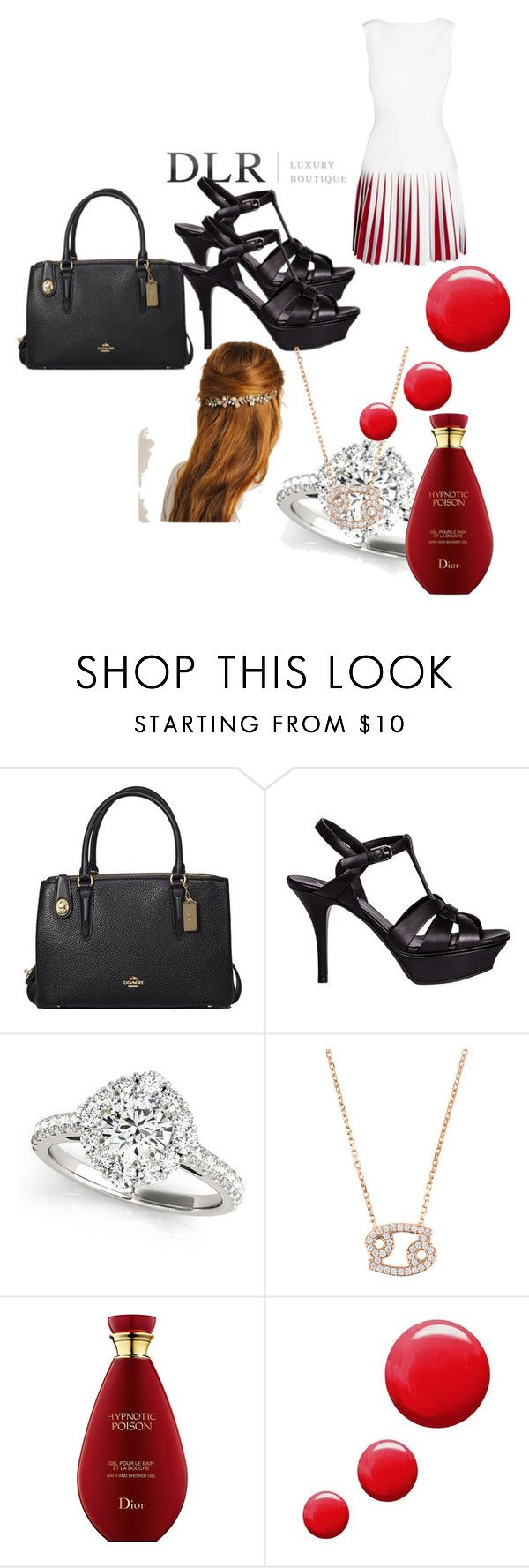 """""""Untitled #122"""" by bahmetovic ❤ liked on Polyvore featuring Coach, Yves Saint Laurent, Alaïa and Topshop"""