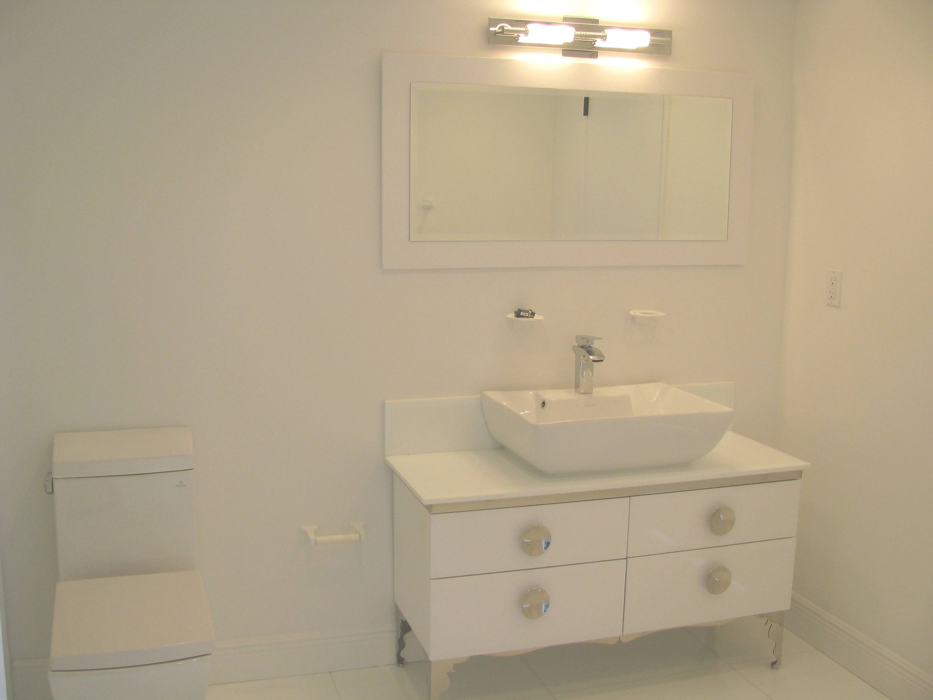 All White Design! Clean and Sleek Look Vanity available at ...