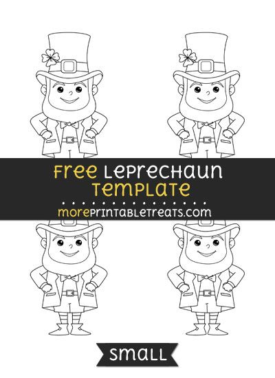 Free Leprechaun Template - Small | Shapes and Templates Printables ...