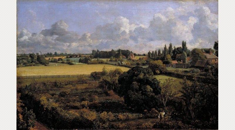 John Constable, Golding Constable's Kitchen Garden by John Constable, c. 1815