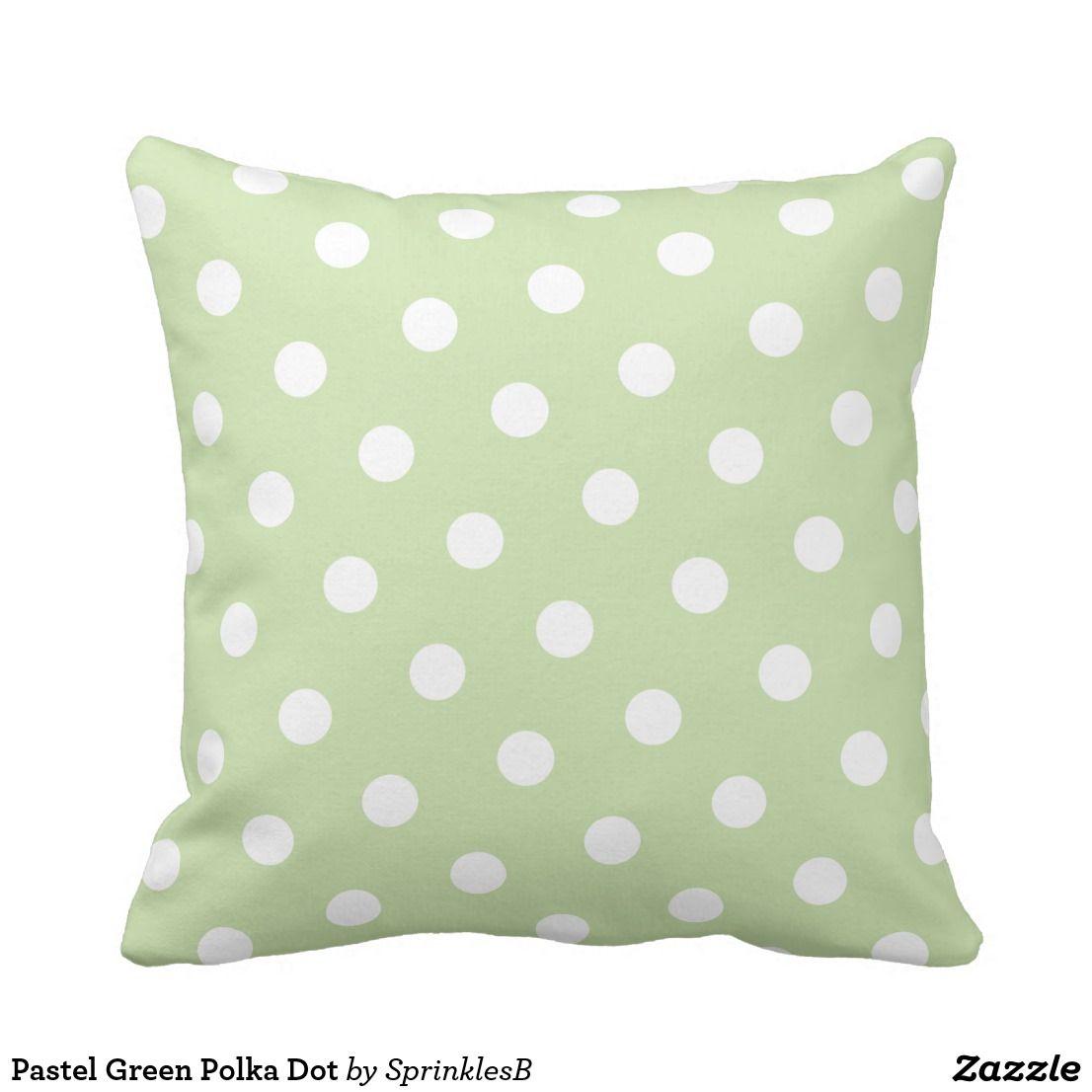 Miraculous Pastel Green Polka Dot Throw Pillow Zazzle Com Nice Machost Co Dining Chair Design Ideas Machostcouk