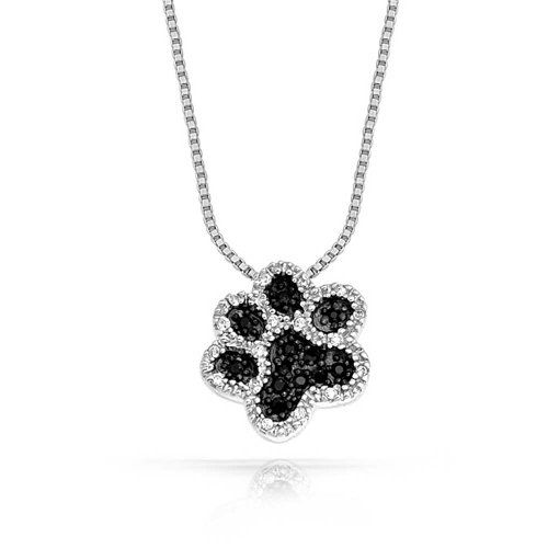 Bling Jewelry Sterling Silver Puppy Paw Pendant Necklace 16in S2kcQEbeH