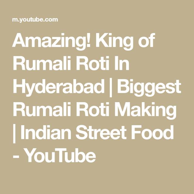 Amazing! King of Rumali Roti In Hyderabad   Biggest Rumali Roti Making   Indian Street Food