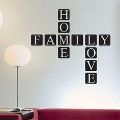 Decorative Scrabble Tiles Family Home Love Quote  Scrabble Tile Decal  Vinyl Wall