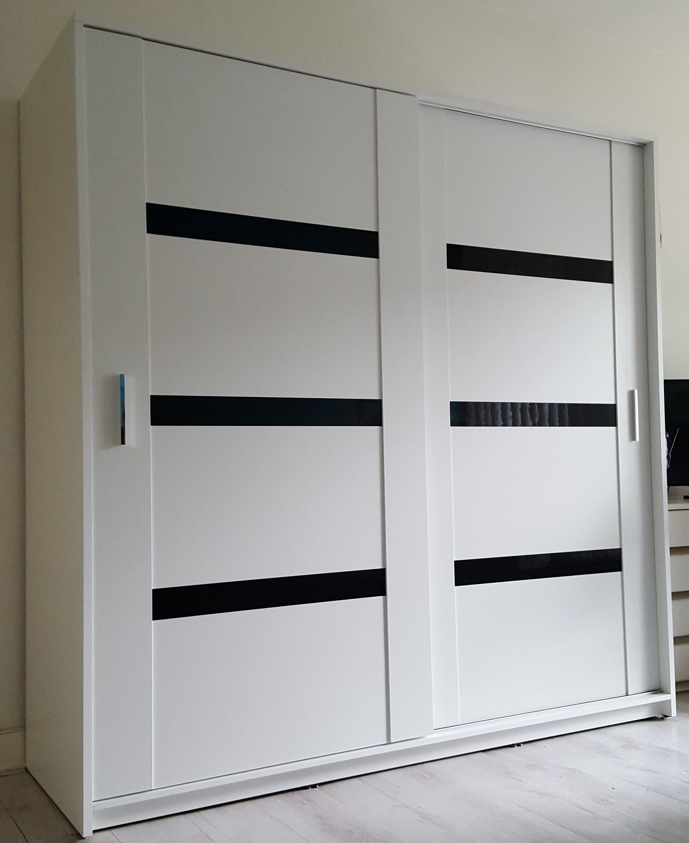 Wonderbaar Moderne mat witte schuifdeur kledingkast Presto 200 cm breed ZC-69
