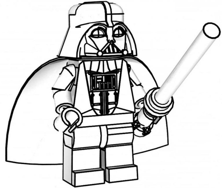 Lego Darth Vader Coloring Pages With Images Lego Coloring