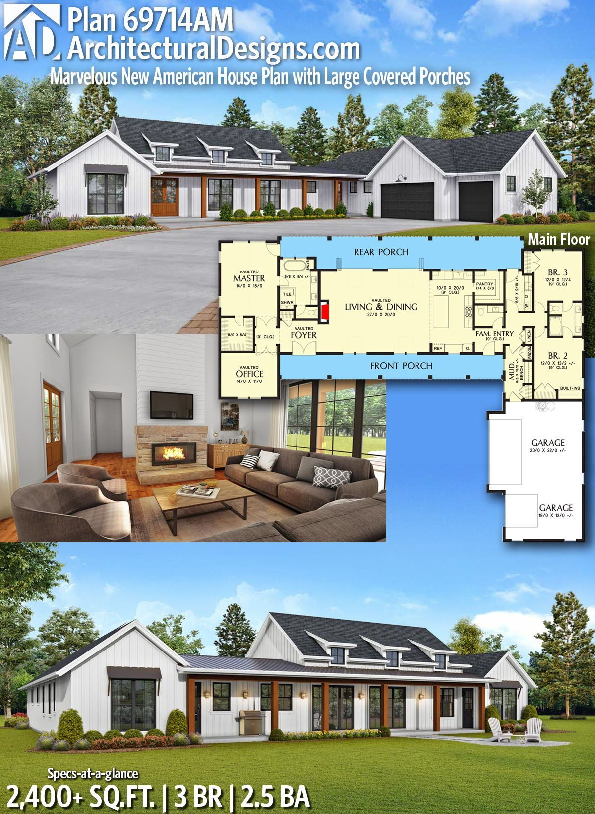 Pin By Carolina Home Plans Llc On House Plans With Porches Porch House Plans Ranch Style House Plans Country House Plans