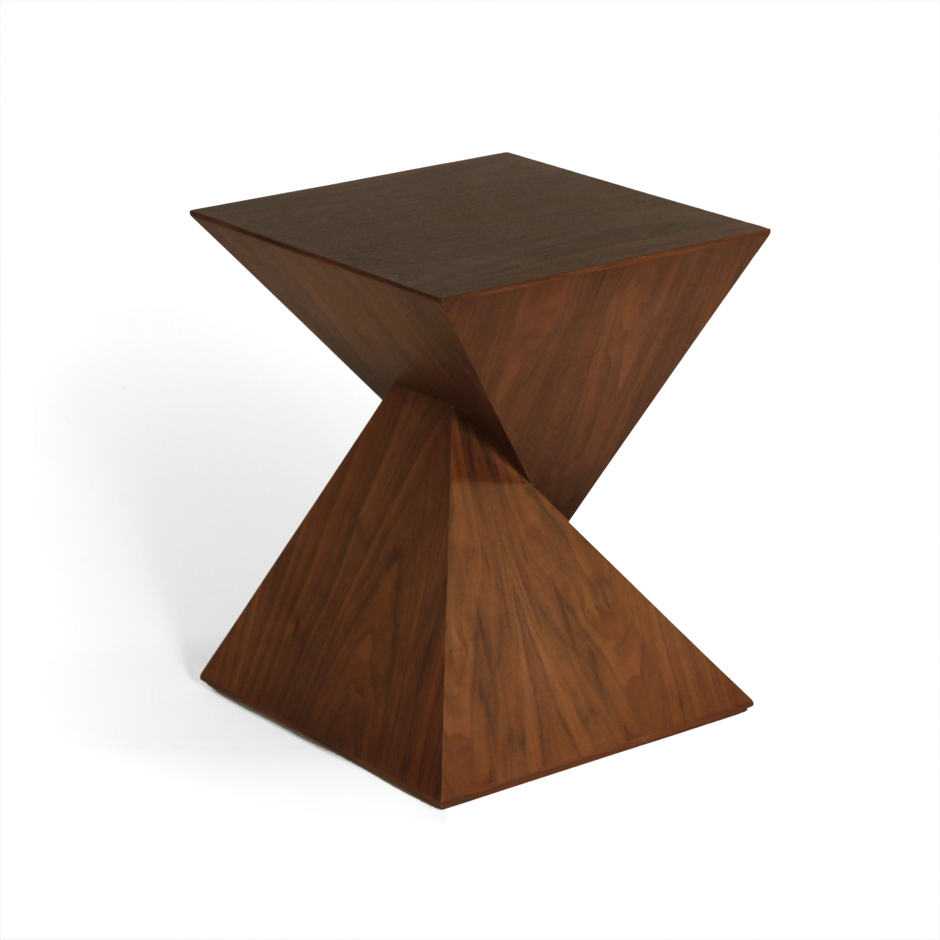 Modern wood table - Pyramid Side Table Modern Wood Side Table Http Www Franceandson