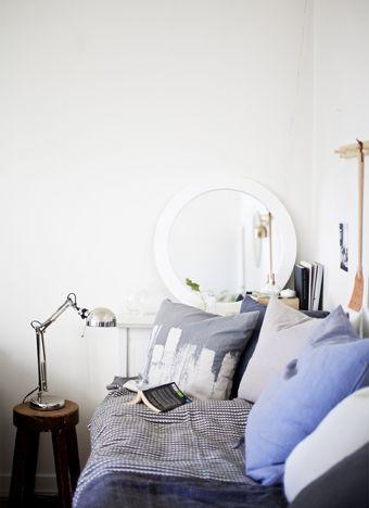 Schon ... U. A. Mit FORSÅ Arbeitsleuchte Vernickelt. Http://www.ikea.com/de/de/catalog/products/80146763/  #Wohnzimmer #Sofa #Inspiration #Dekoration