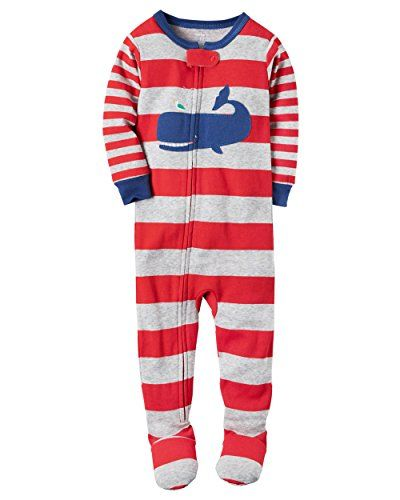 Baby Boy Clothes Carter S Baby Boy S Snug Fit One Piece Footed Pajamas 12 Months Red Whale Baby Boy Pajamas Carters Baby Boys Carters Baby
