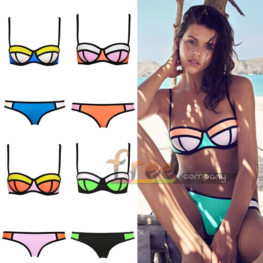 f4e7eb6828e All Kinds Of Lady Sexy Triangle Bikini With Rims Polyester Bra Swimsuit  Swimwear  Unbranded