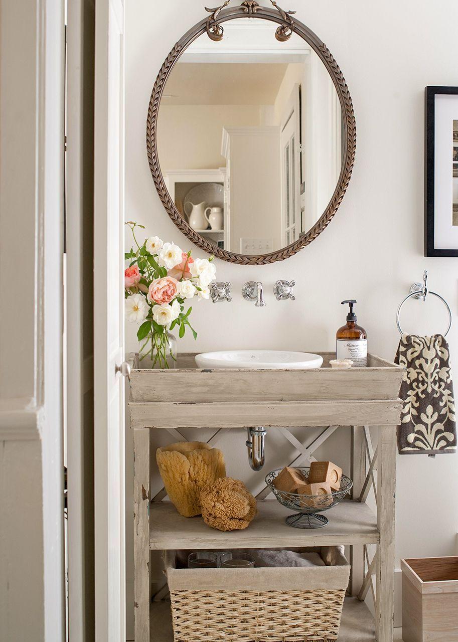 18 Diy Bathroom Vanity Ideas For Custom Storage And Style Small Vintage Bathroom Antique Bathroom Ideas Rustic Bathroom Vanities