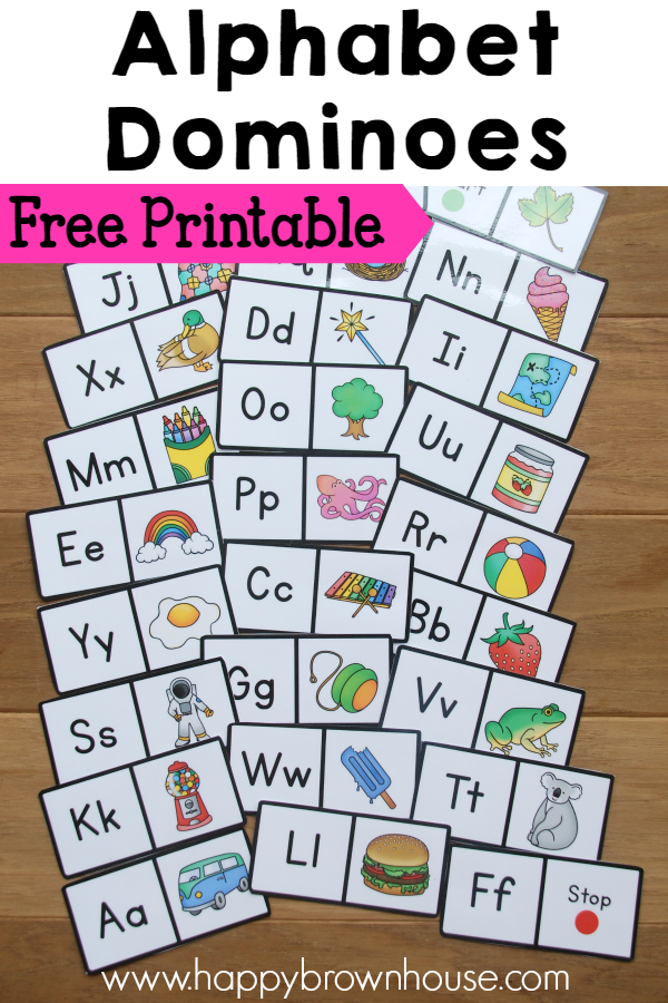 Alphabet Dominoes Busy Bag | Busy bags, Printable alphabet and Pre ...