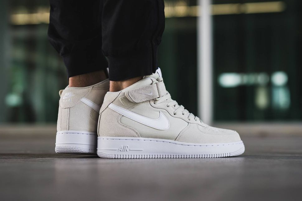 Nike Air Force 1 Mid Light Bone - EU Kicks: Sneaker Magazine