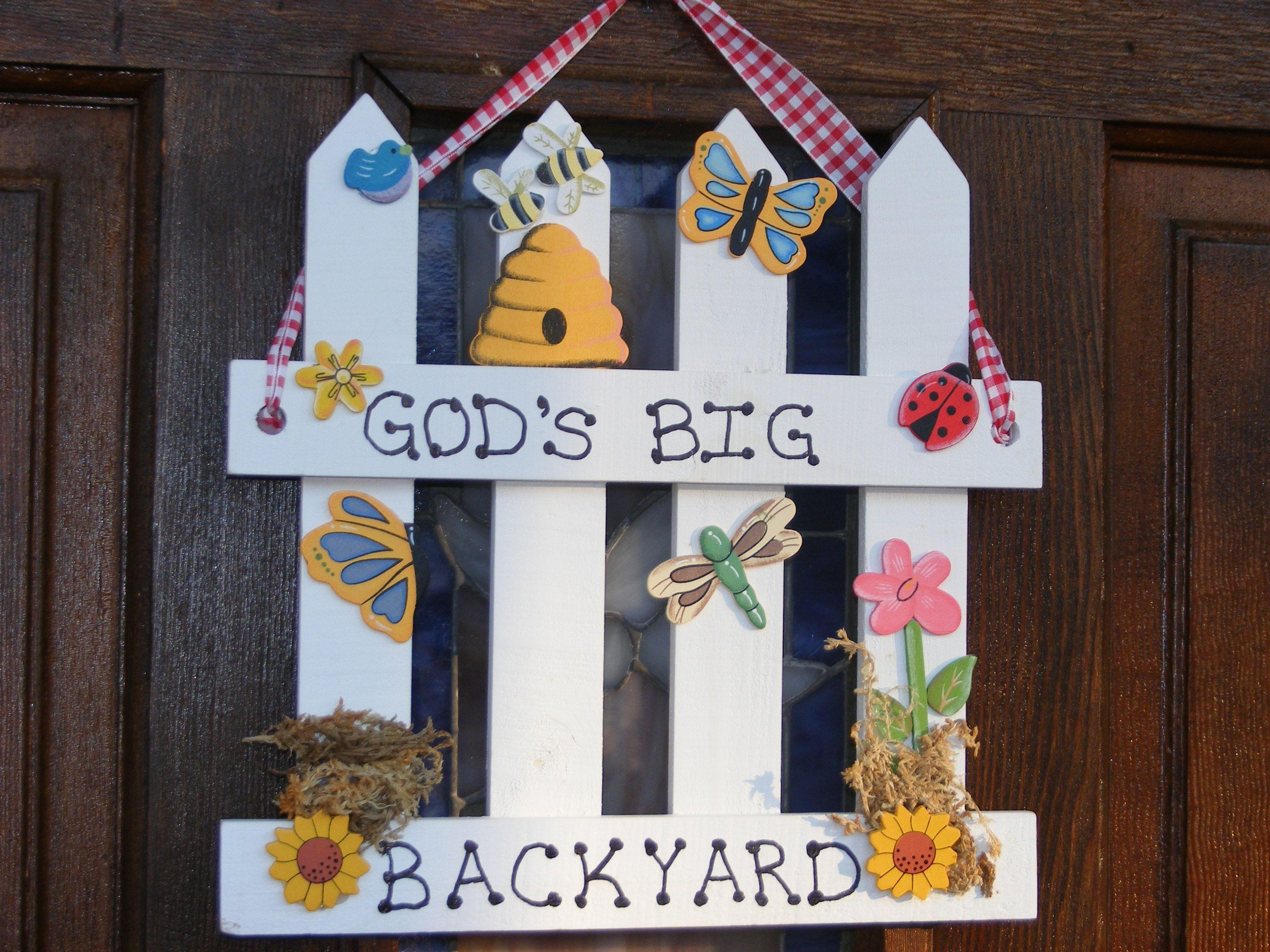 Door hanging | Vbs crafts, Backyard crafts, Backyard bible ...
