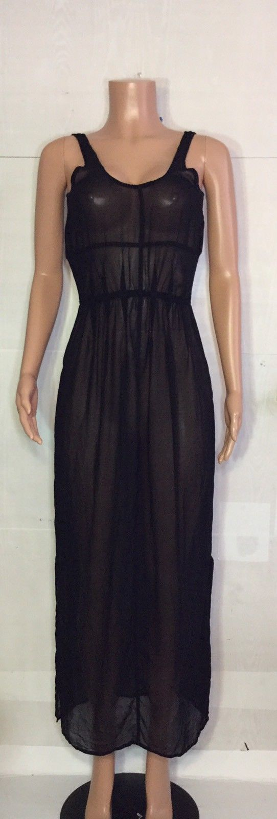 Awesome great mono b black sheer maxi dress small long cover up