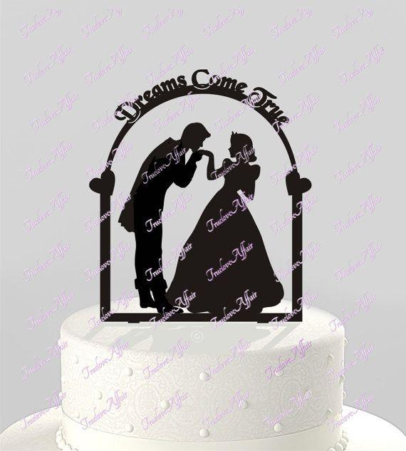 Fairy Tale Prinz und Prinzessin Hochzeitstorte Silhouette | Wedding ...