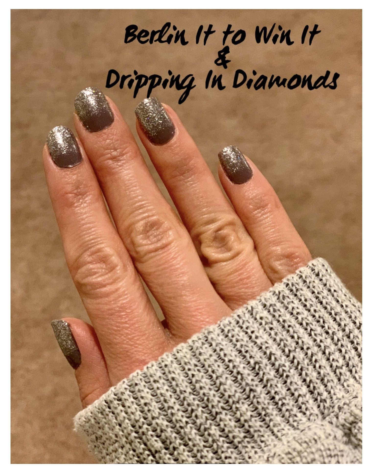 color street nails combos dripping in diamonds