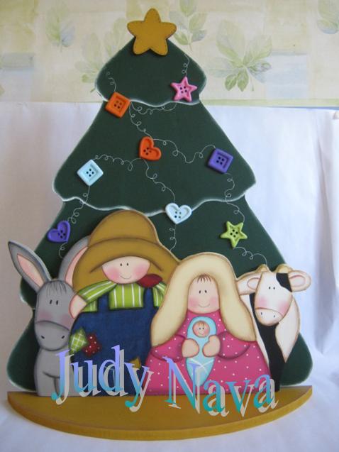 7dde022e4b5 craciones en mdf navidad. Nacimiento con árbol