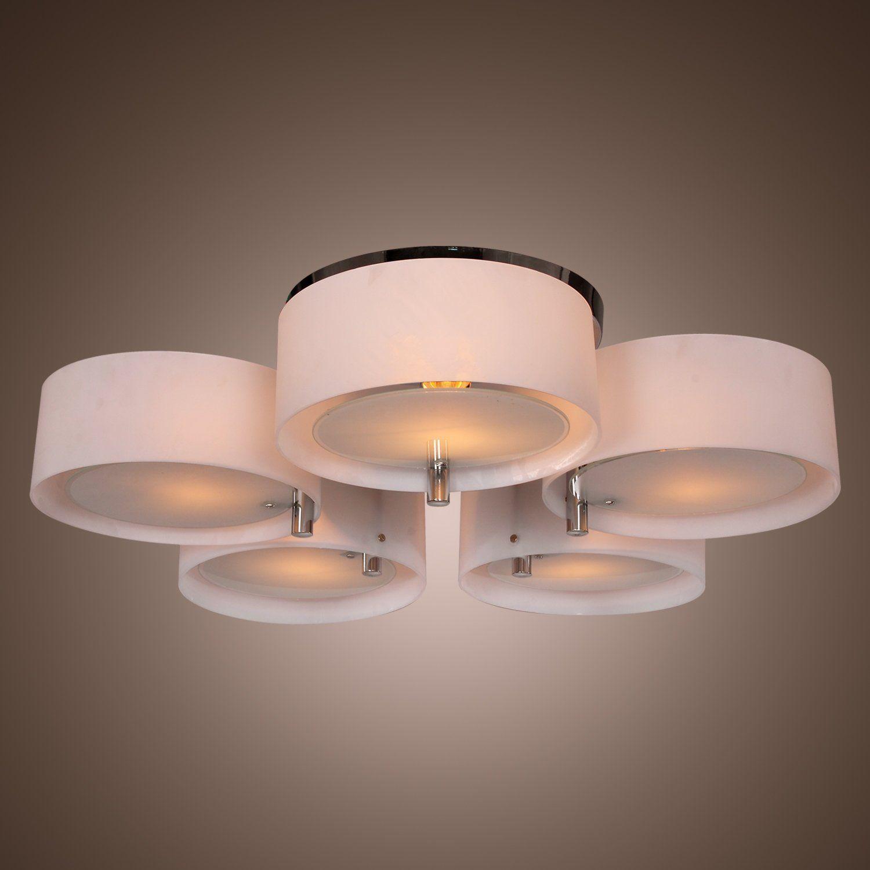 LightInTheBox® Modern Acrylic Chandelier with 5 lights Flush Mount ...