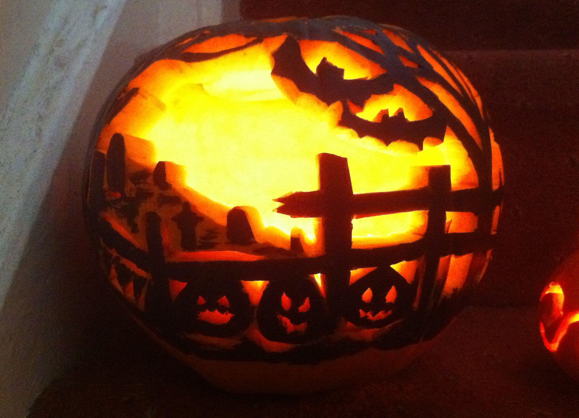 one of my pumpkin carvings