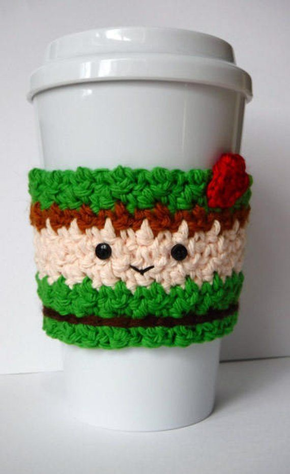 Crochet Peter Pan Coffee Cup Cozy #coffeecup